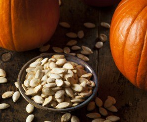 Roasted Salty Pumpkin Seeds